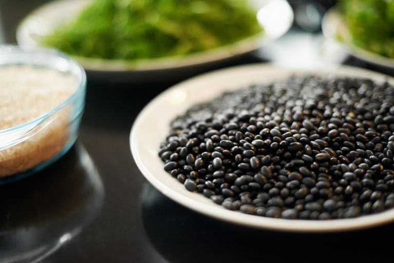 plate of black beans