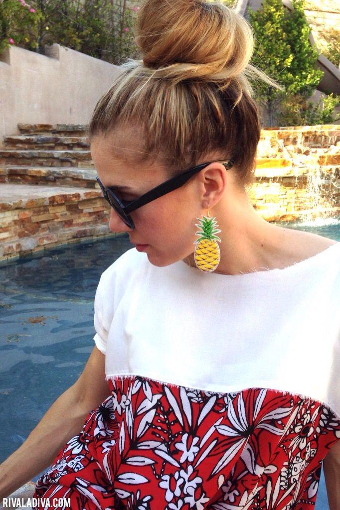 DIY Pineapple Earrings
