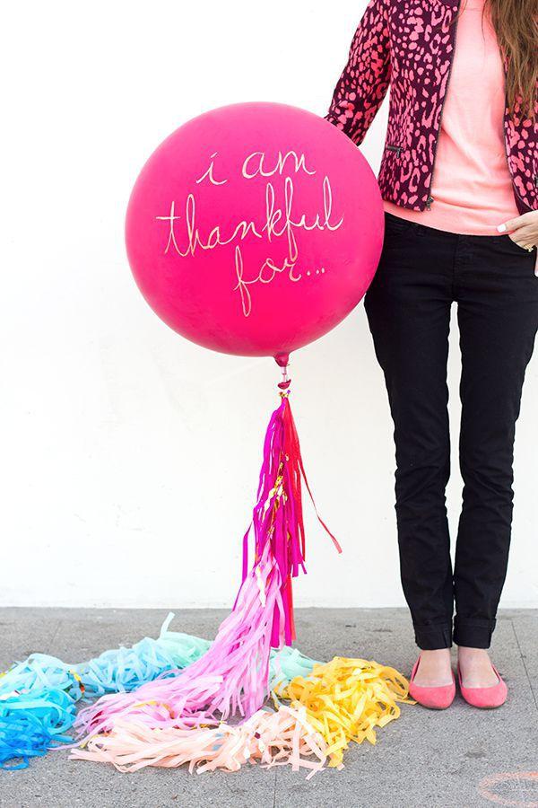 diy i am thankful for balloon