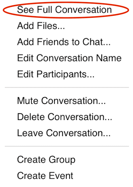 Use facebook messenger via pop up window or full screen facebook chat view options ccuart Image collections
