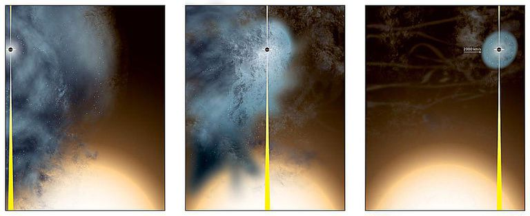 supermassive black hole is nearly naked