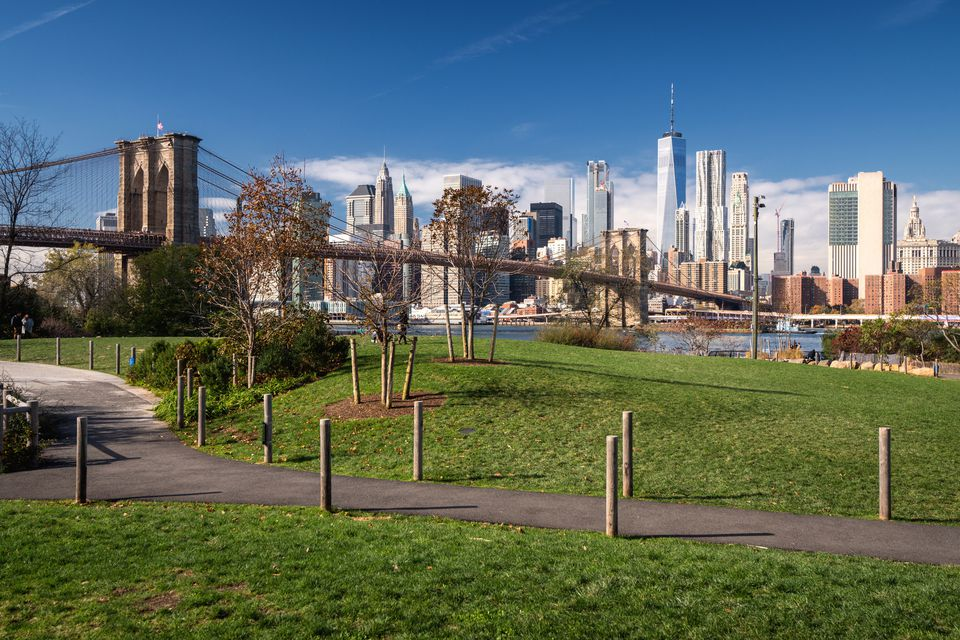View of Manhattan from Brooklyn Bridge Park