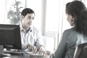 A career development facilitator and client