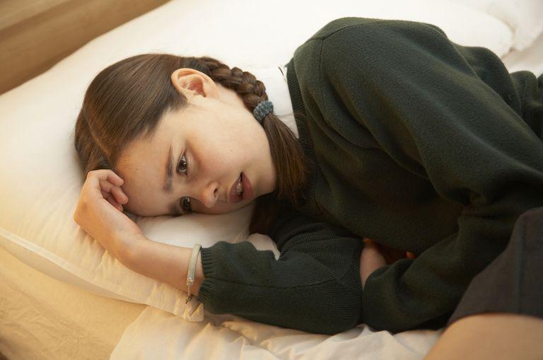 A girl feeling anxious.