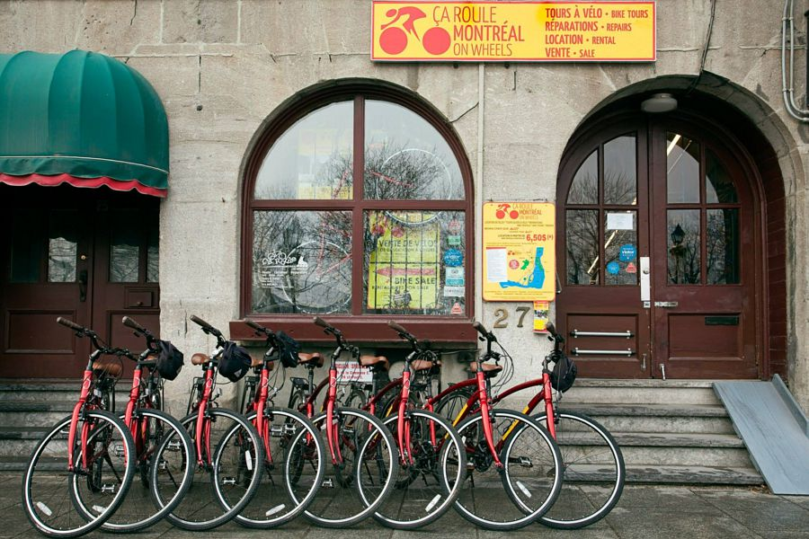 Montreal bike rentals at Ça Roule Montréal on Wheels come in 150 different models.