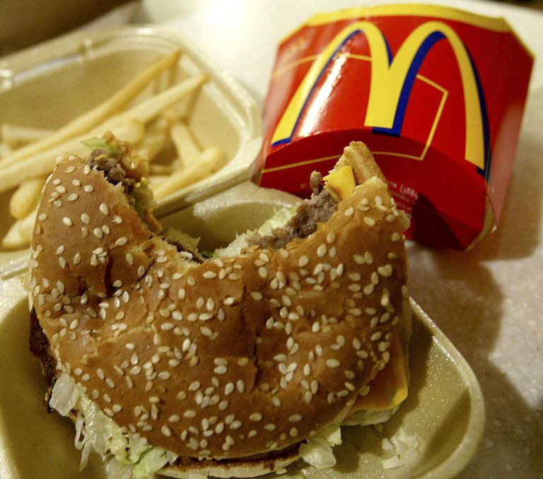 Image of a McDonald's burger and fries.
