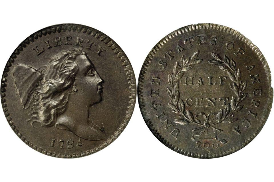 1794 Liberty Cap Half Cent Facing Right