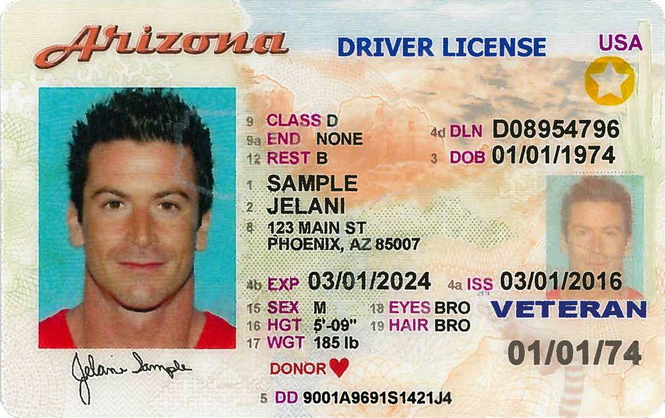 Arizona Driver License Travel ID