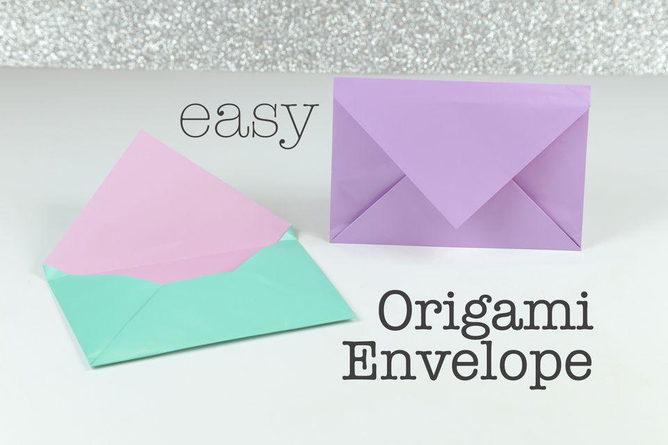 Easy Origami Envelope 01