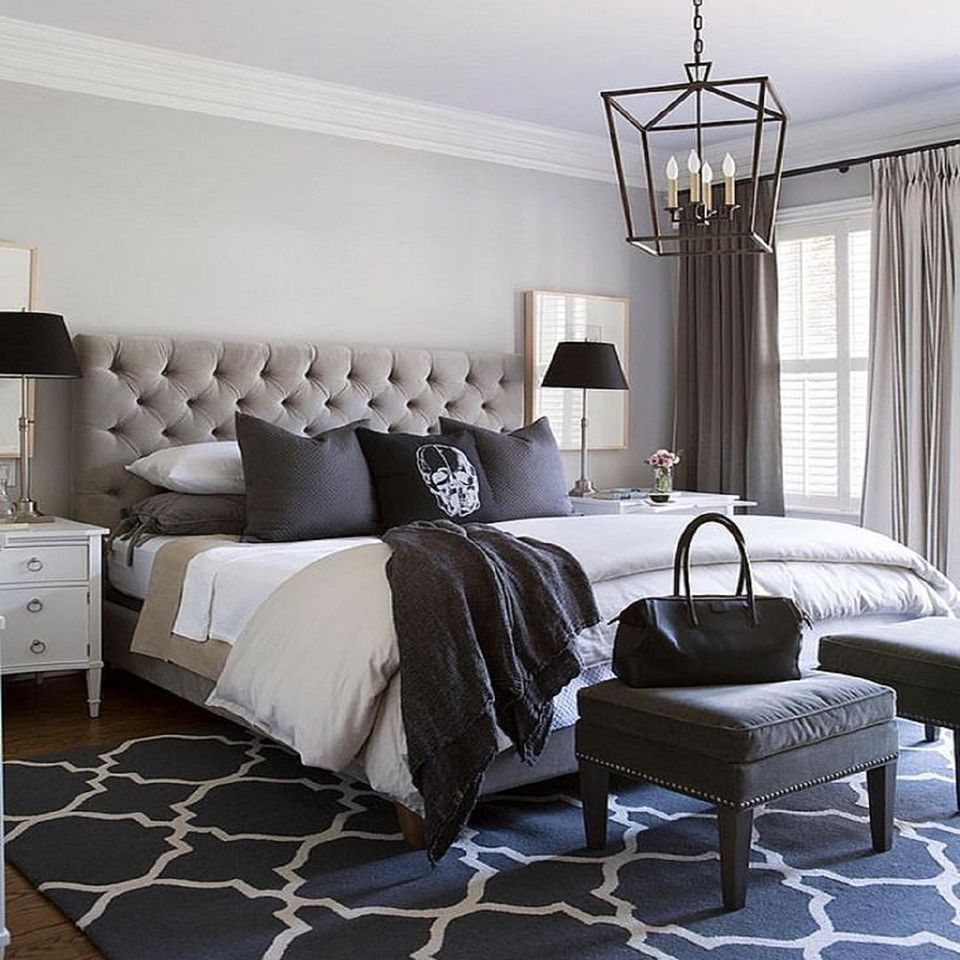 Simplistic Grey Master Bedroom: Small Master Bedroom Design Ideas, Tips And Photos