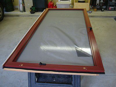 screen door repair work surface