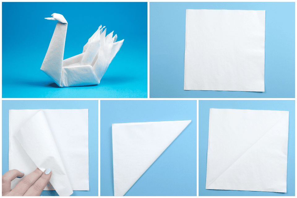 How To Make An Origami Swan With A Napkin