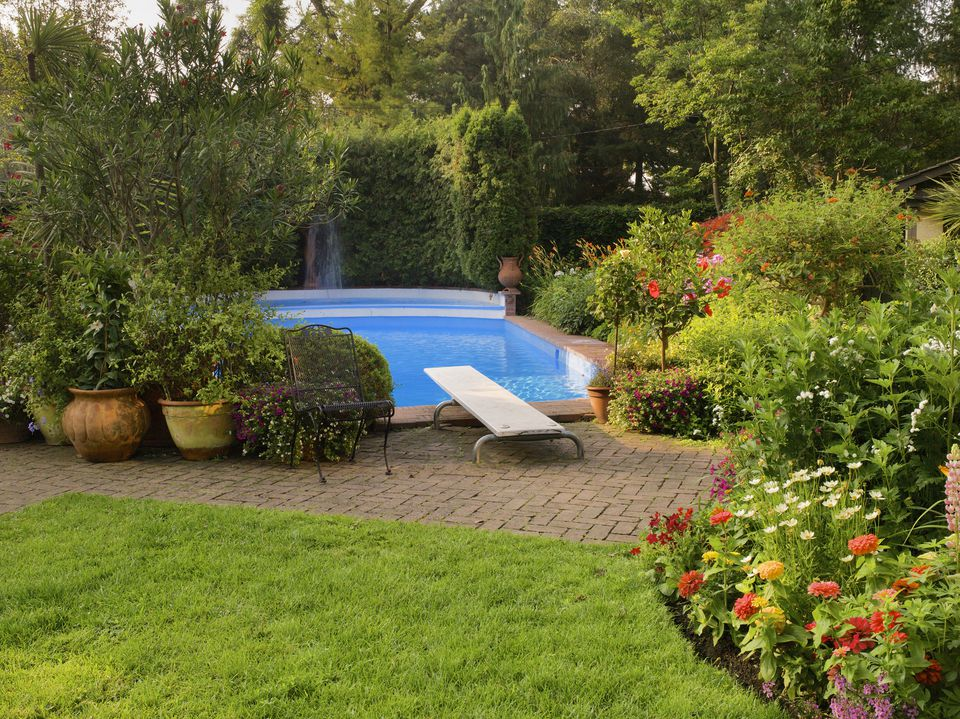 what to consider before landscaping around a swimming pool - Garden Ideas Around Swimming Pools