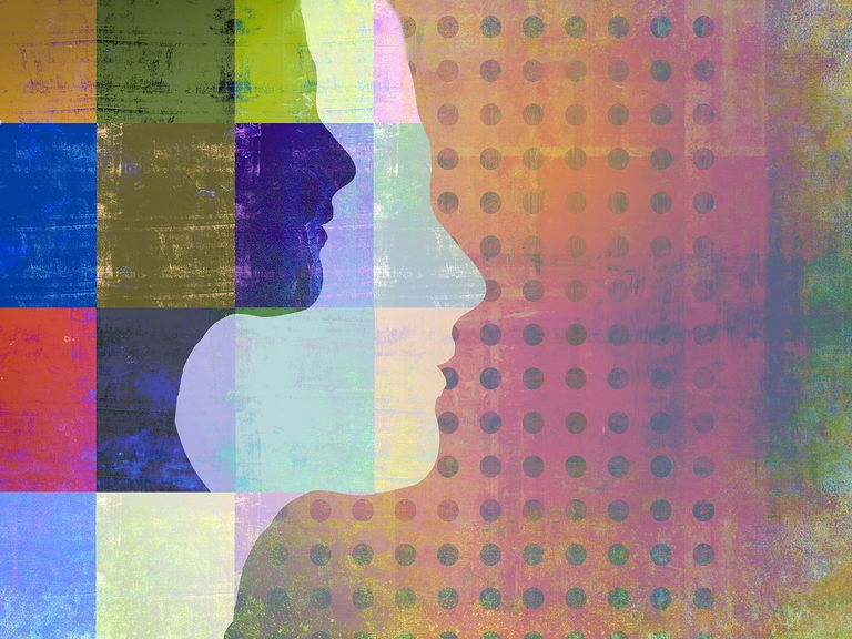 Abstract image of woman's profile