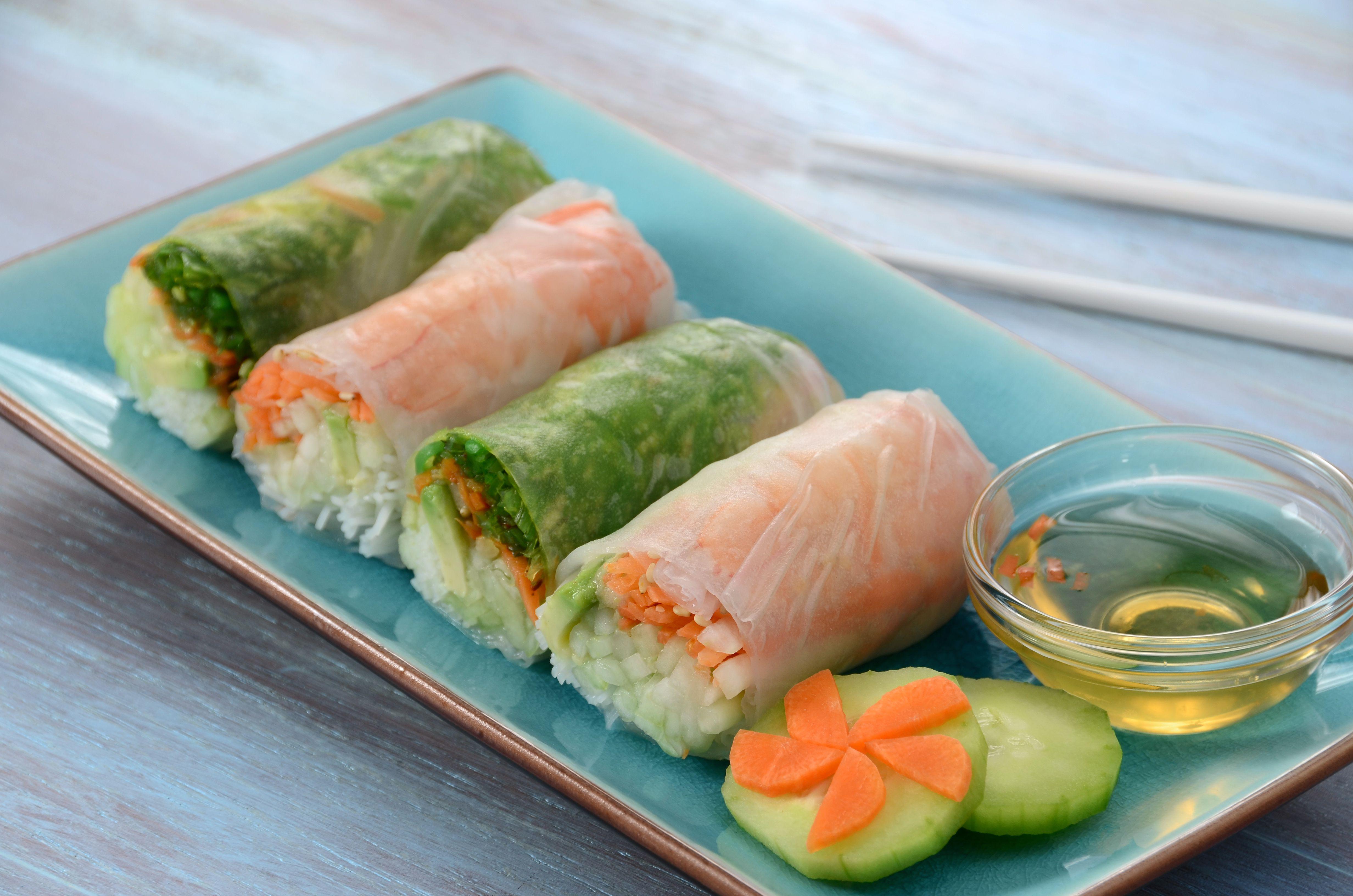 Vegan Cucumber Spring Roll Recipe