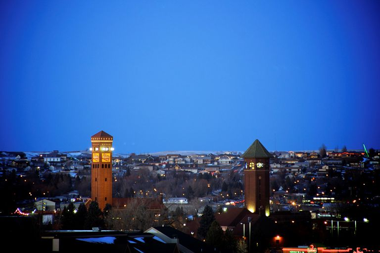 Skyline of Great Falls, Montana