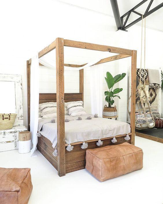 A trendy, modern bedroom