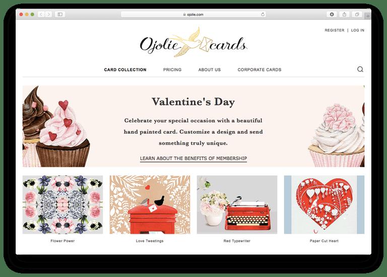Ojolie Valentine's Day E-Cards