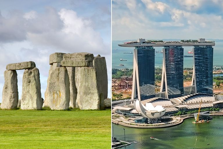 Stonehenge and Marina Bay Sands