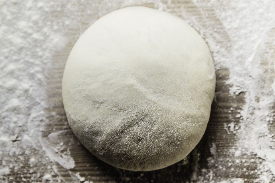 A ball of pizza dough