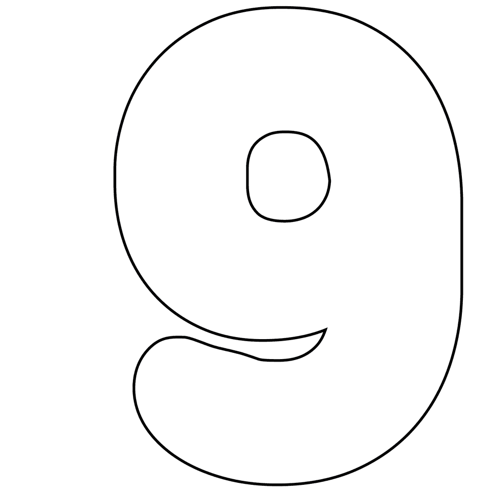 Universal image in printable number 9
