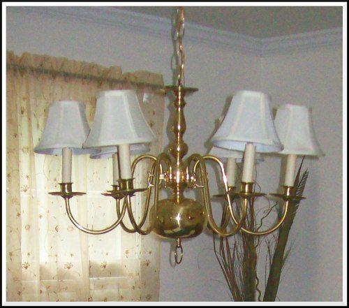 boring brass chandelier