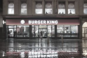 A view of a Burger King restaurant in Manchester.
