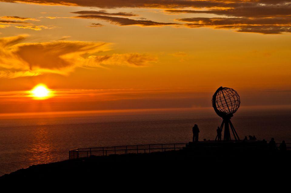 Midnight sun, Nordkapp