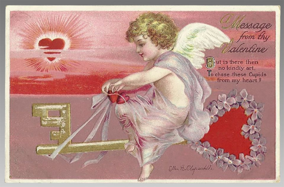 Ellen Clapsaddle Signed Valentine Postcard
