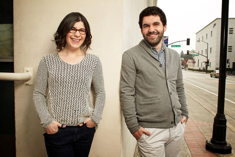 Rebecca Sugar and her brother, Steven Sugar.