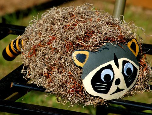 Photo: You can decorate a gourd to be a hat, as well as a bird house.