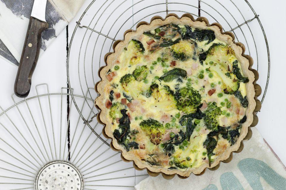 broccoli and turkey quiche
