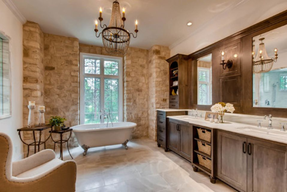 Luxury French Country Master Bathroom