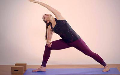 extended side angle yoga pose  utthita parsvakonasana