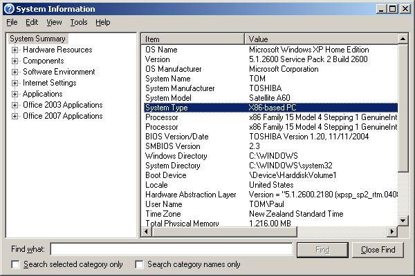 System Information Tool