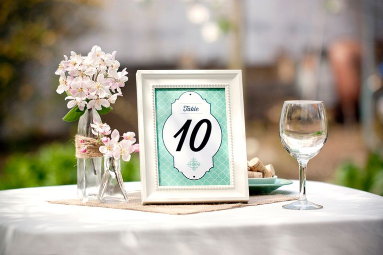 107 sets of free printable wedding table numbers for Table numbers for wedding reception templates