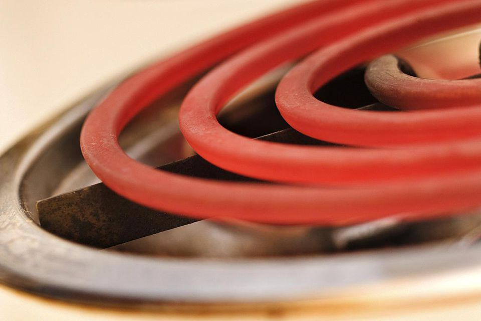Hot burner on electric stove