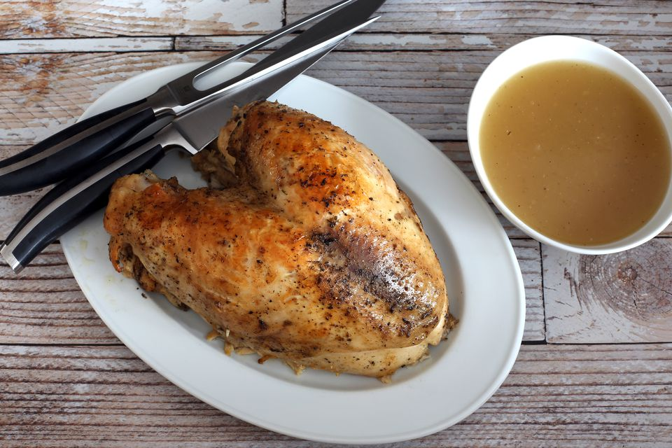 easy crock pot turkey breast and gravy