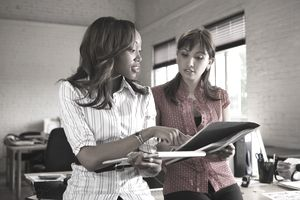Women of different ethnic backgrounds working together