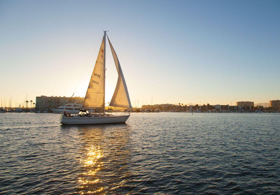 Sunset Sail in the Marina Del Rey Harbor