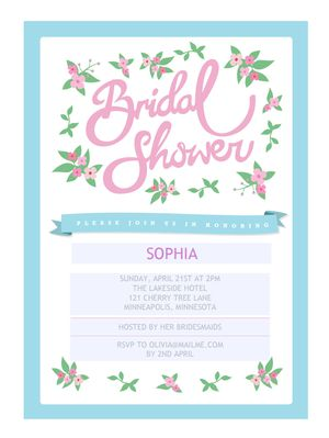 Free template for wedding shower invitations