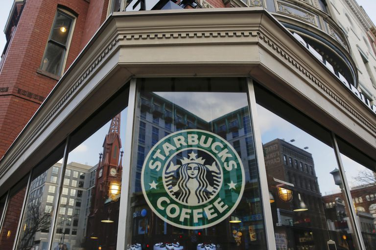 exterior view of a Starbucksin the Chinatown neighborhood of Washington, DC
