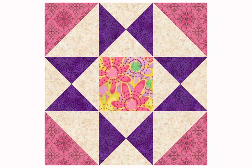 Ohio Star Variation Quilt Block Pattern