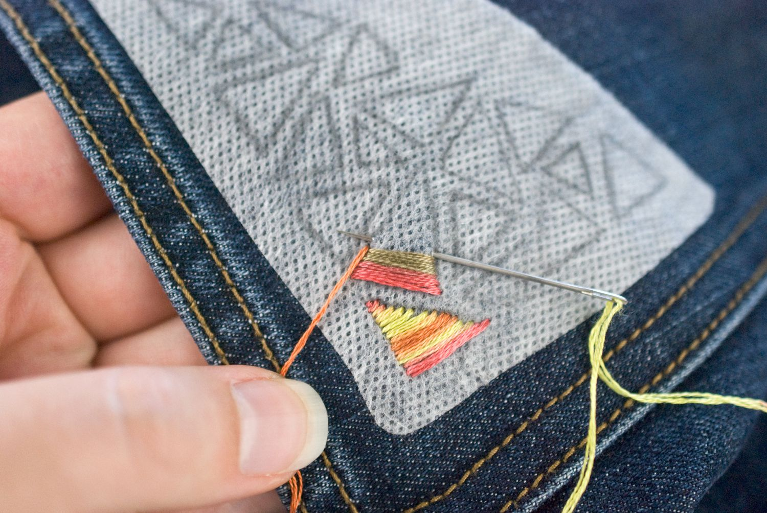 A guide for hand embroidery on denim ccuart Choice Image
