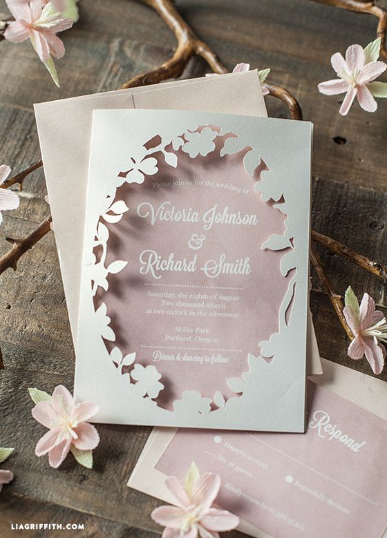 Spring Blossom Printable Wedding Invitation