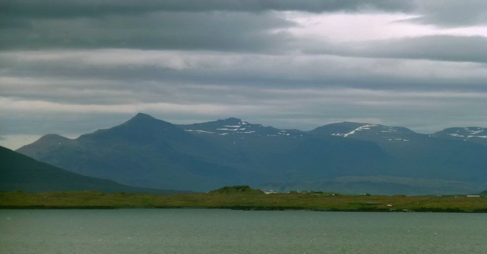 Reykjavik, Iceland - View of the nearby Mountains