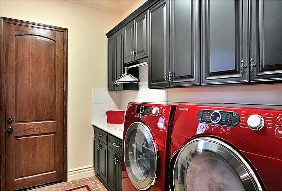 add color with laundry appliances - Utility Room Design Ideas