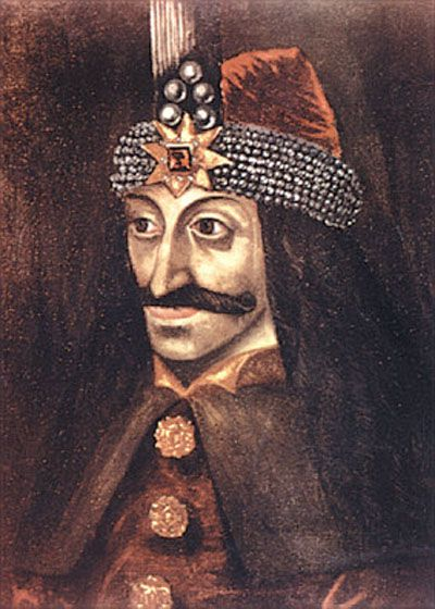 Vlad Dracula oil painting