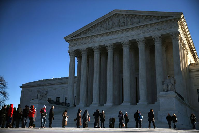 People protesting in front of U.S. Supreme Court building