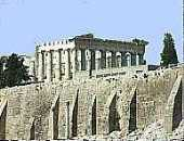 The Parthenon and Acropolis wall